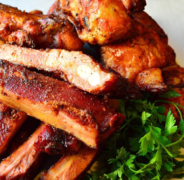 Ribs and Chicken Barbeque